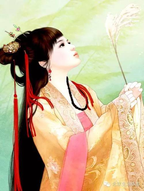 唯美古装美女手绘图片:倾我一世