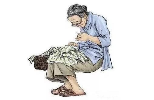 游子吟            慈母手中线,游子身上衣. 临行密密缝,意恐迟迟归.图片