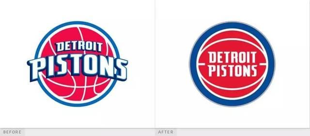 新logo字体是经过重新设计的红色,白色和蓝色的篮球.