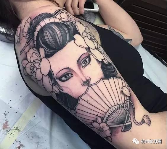 日本传统纹身:艺伎图片
