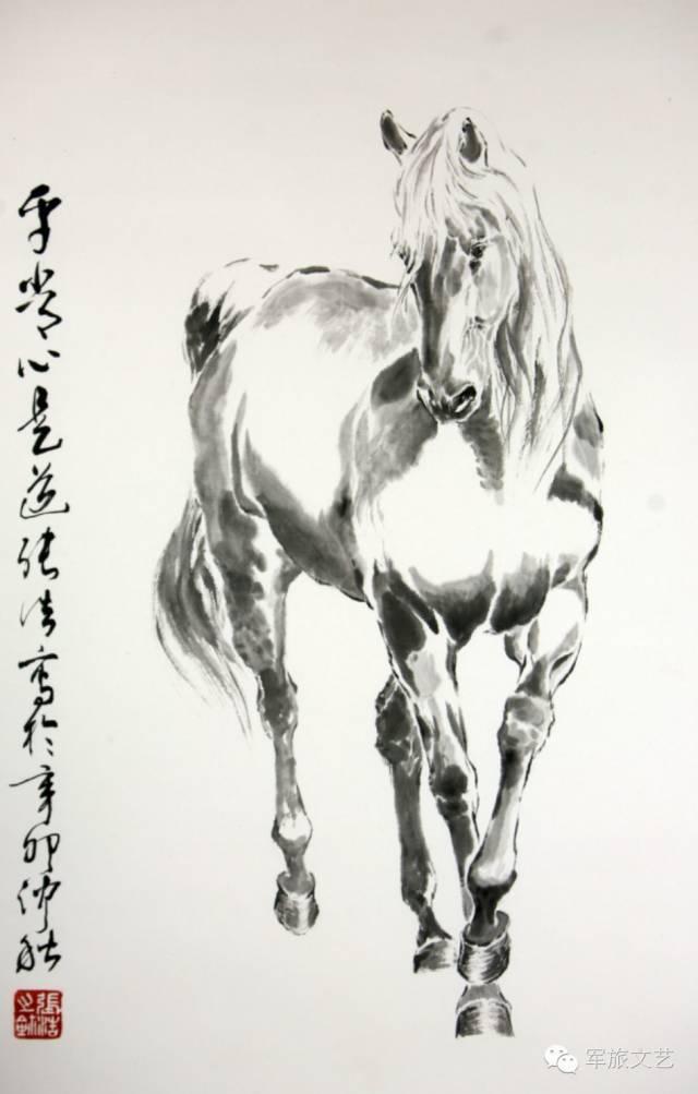 一起学国画 马的画法图片