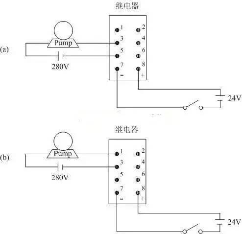 8腳繼電器的接線方法