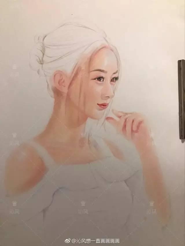 赵丽颖手绘教程  小骨画完了接着开始是邱莹莹(杨紫)的手绘教程了