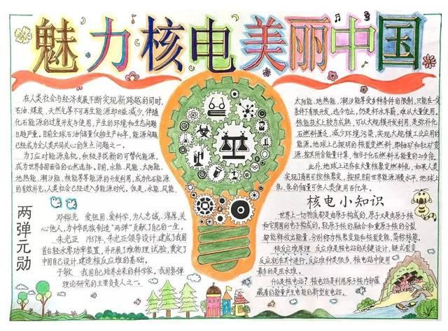"""此次""""核电杯""""手抄报是漳州能源为第五届""""魅力之光""""全国中学生核电"""