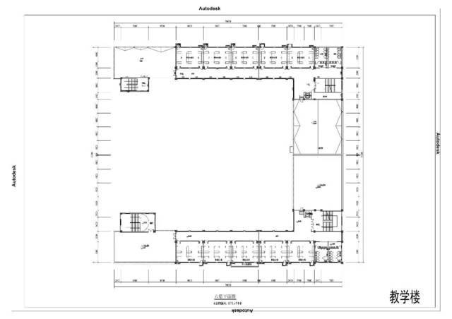 教学楼六层平面图