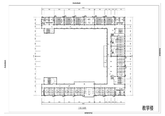 教学楼三层平面图