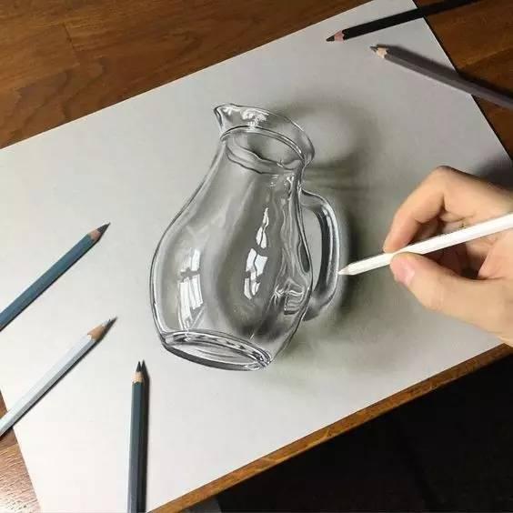 素描好课 素描零基础如何画出超强立体感 玻璃质感 这节课就搞定