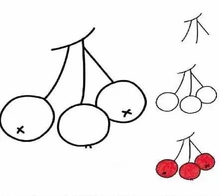 清凉夏日 水果简笔画系列 简单清爽果断收藏