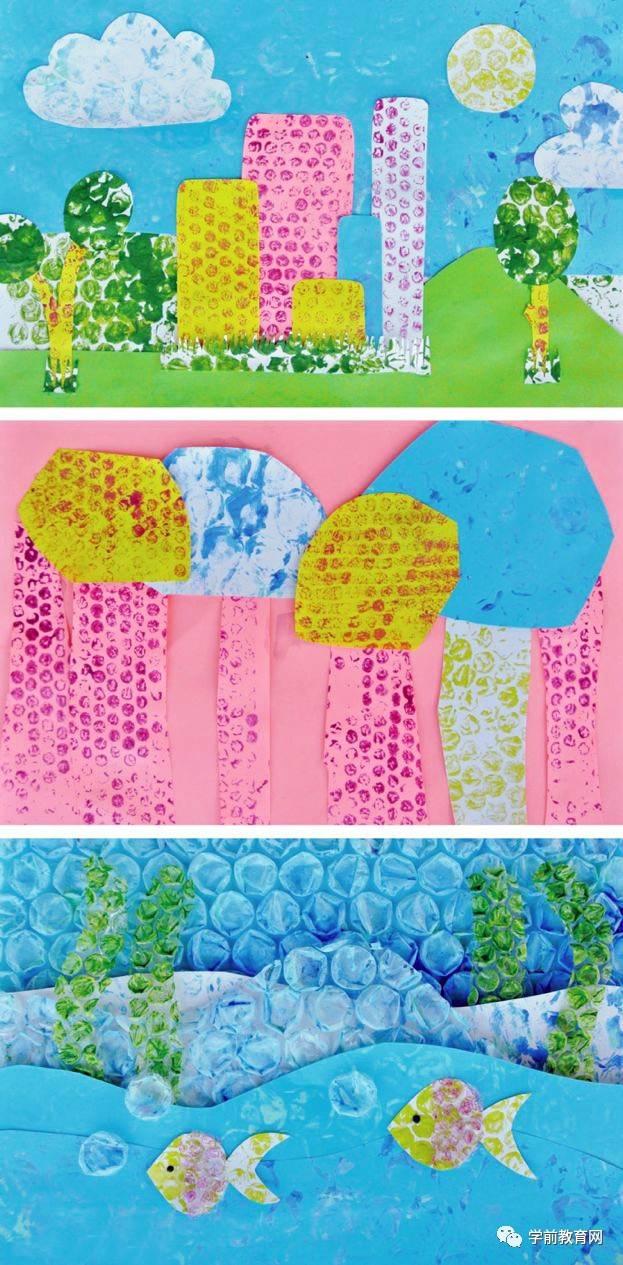 创意手工:用气泡膜来涂鸦做手工,环保又好玩!图片