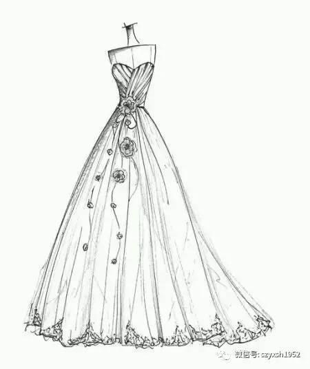心动,唯美婚纱手绘图