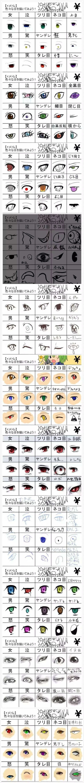 手绘素材 | 动漫眼睛画法大全