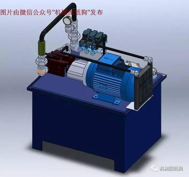 【工程机械】液压泵箱结构3d数模图纸 solidworks设计