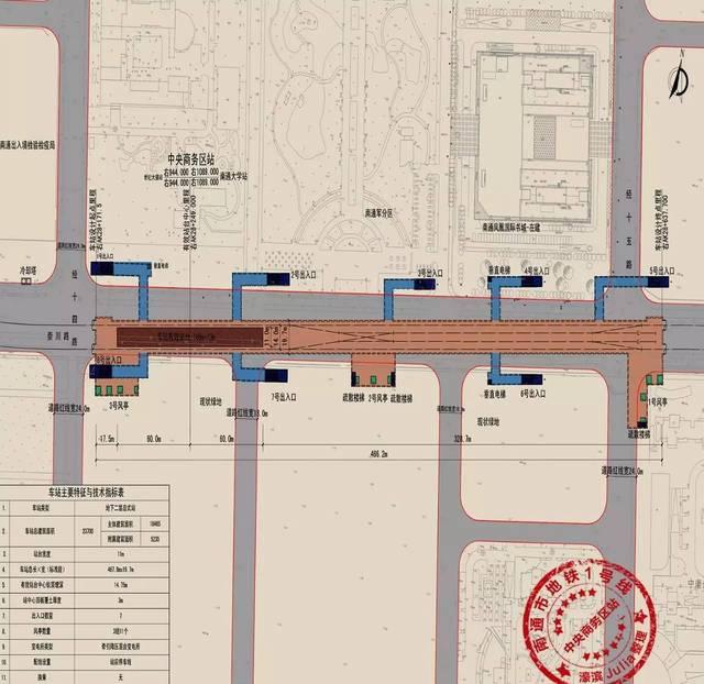 南通地铁1号线最新线路图曝光! 看看离你家有多远?