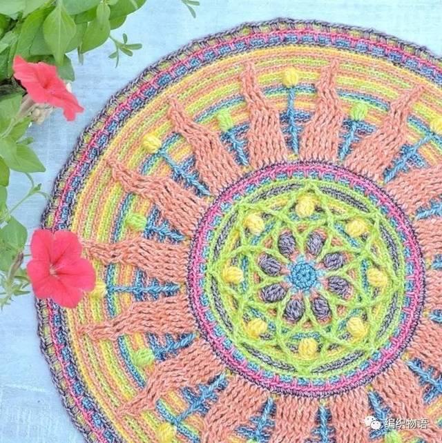 情迷曼陀罗钩针地毯系列欣赏图片