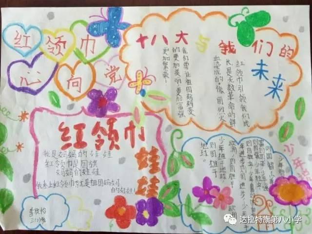 """""""童心向党"""",""""优秀童谣""""主题手抄报"""