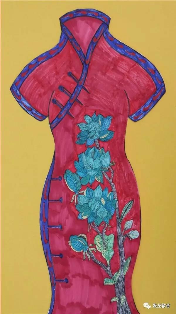 聚龙外国语学校美术社团优秀作品展之——儿童画作品图片