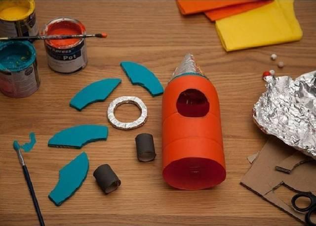 手工丨幼儿园小火箭制作教程-母婴频道-手机搜狐