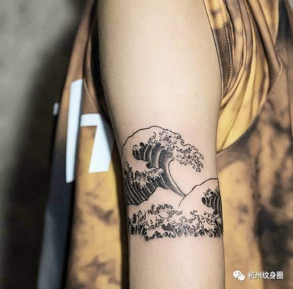 Tattoo 纹身素材 浪花