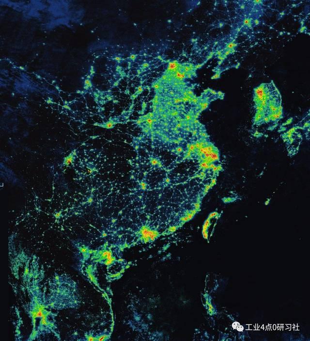 夜间卫星图看发达程度,为何印度比中国亮灯面积大?