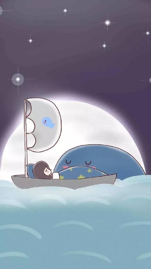 【深蓝壁纸】小清新手绘鲸鱼壁纸放送