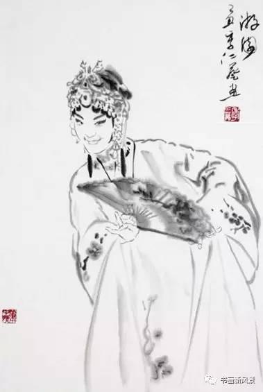【赏析】好美的一组水墨京剧人物!