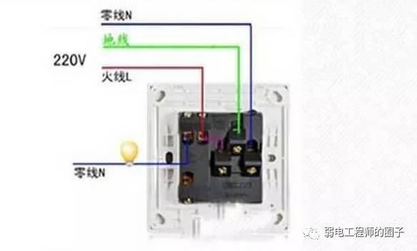 五孔开关插座接线图,千万别接错了