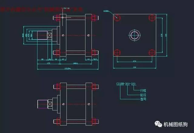 【泵缸阀杆】smc标准气缸图档cad图纸若干 dwg格式文件