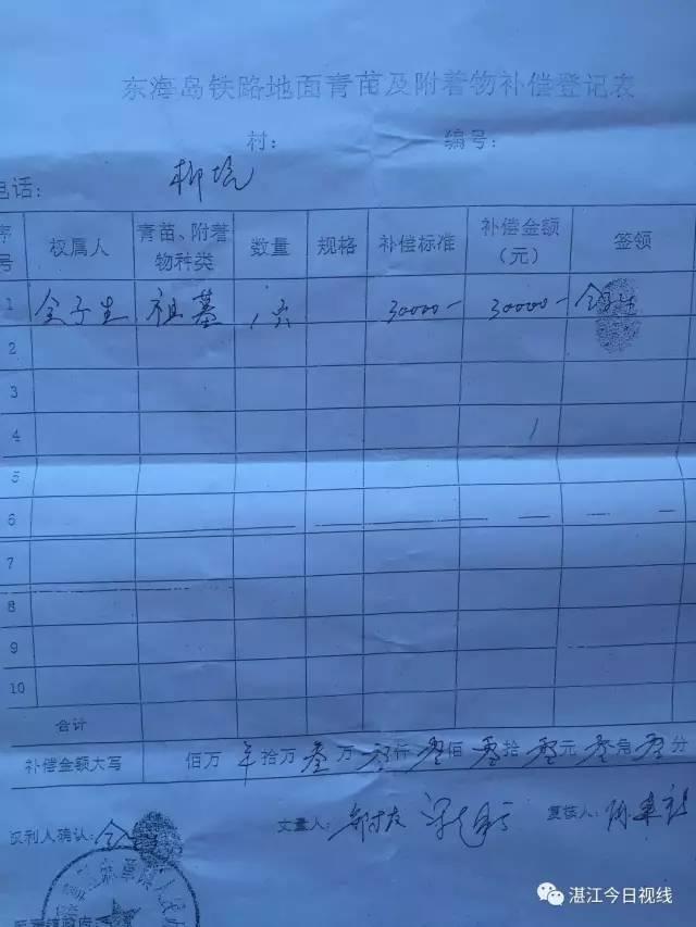 湛江麻章镇迈合村委会主任骗取征
