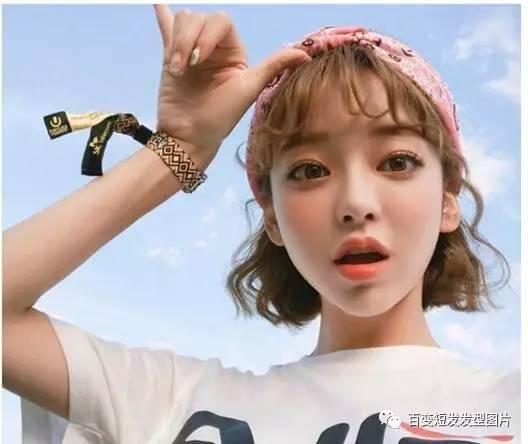 圆脸适合什么韩式短发 韩式中短发烫发发型图片图片