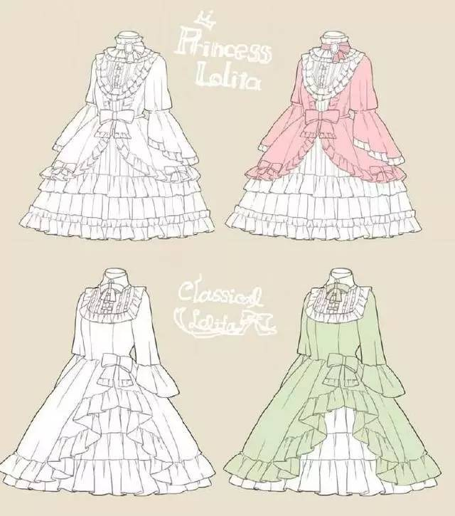 洛丽塔设计手绘强推,洛丽塔真正爱它就会懂它