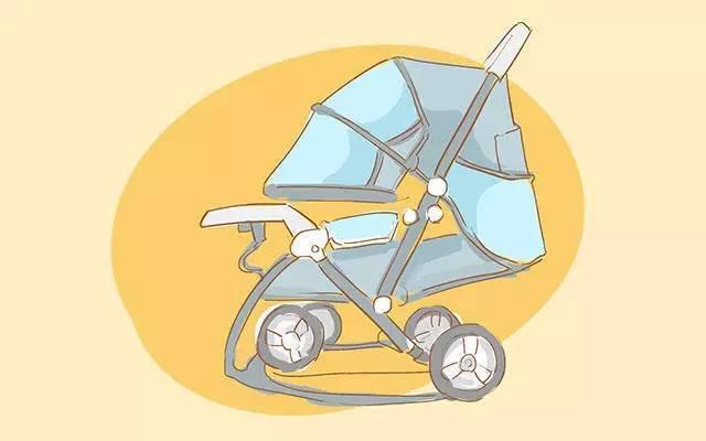 突然停止刹车,如果宝宝没有系安全带就很有可能因为惯性摔出推车.