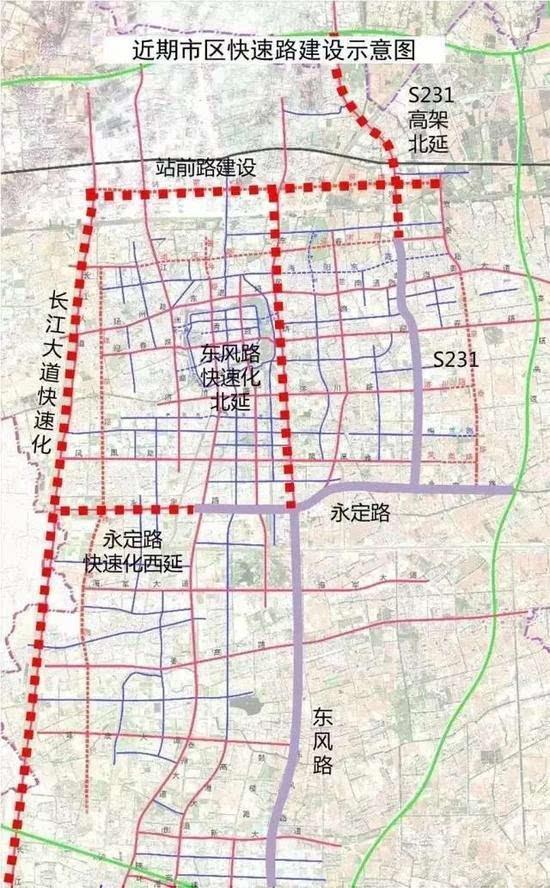 這五條路已列入市區城建新提升新兩年行動計劃: s231快速路北延圖片