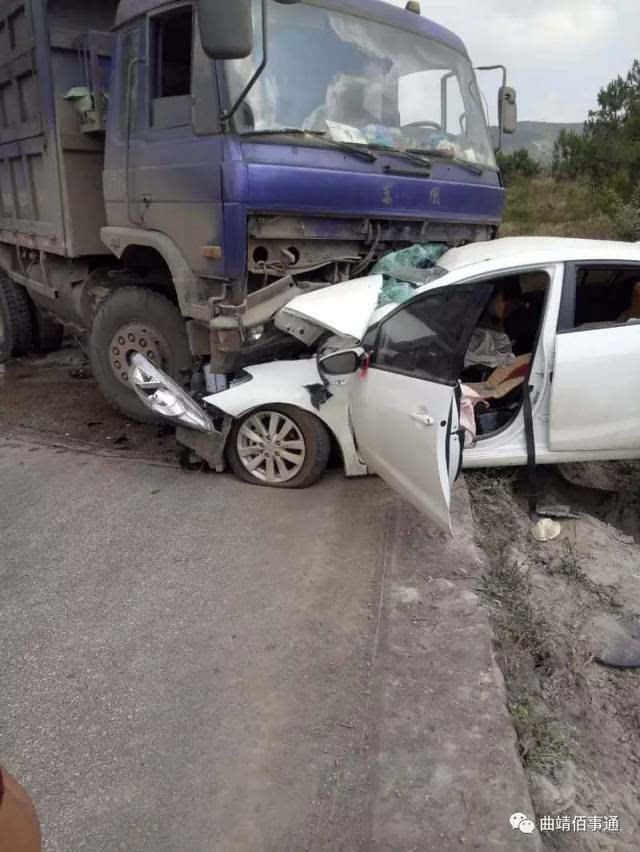 子车祸_惨烈车祸,马龙南海子 大货车与小轿车相撞!