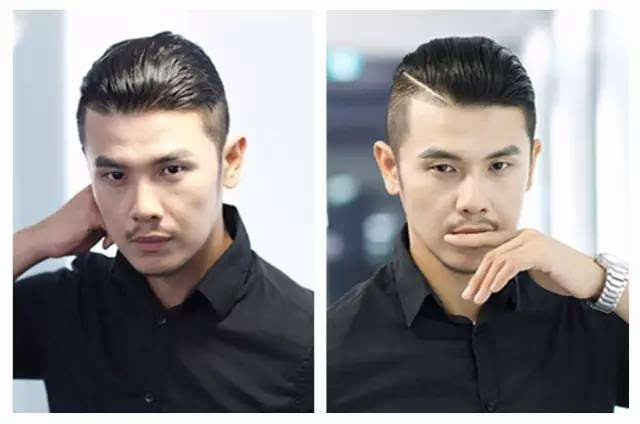 两边剃段头顶烫的背头_只是顶部的头发要选择更加适合中年人的设计,比如背头油头.