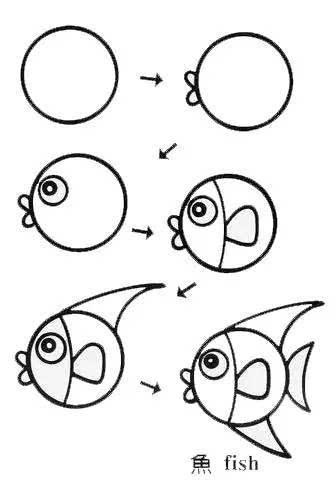 动物简笔画有利孩子智力发展