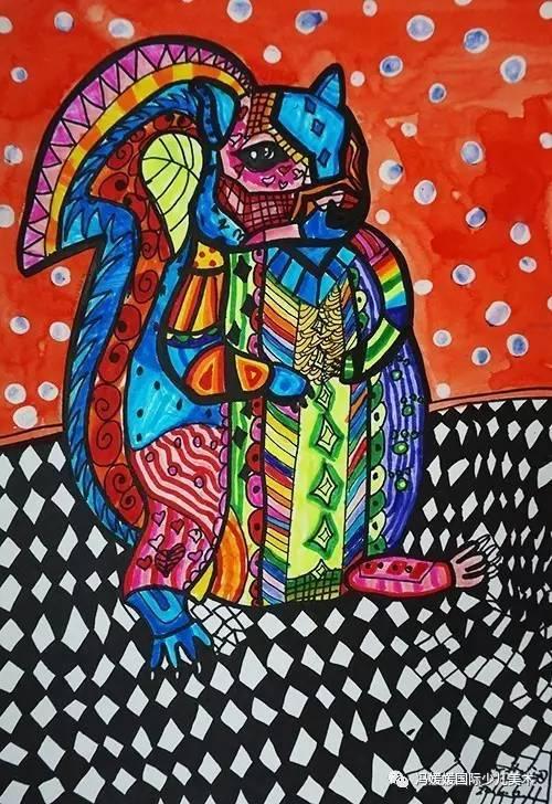 《动物装饰画》