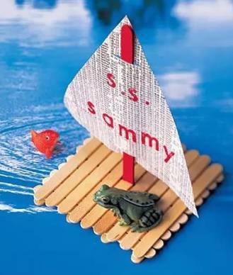 儿童手工制作轮船