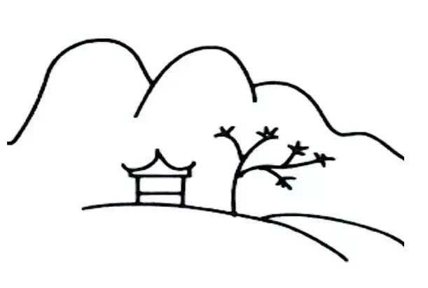 儿童简笔画:画一幅风景画,让孩子与自然更亲近!