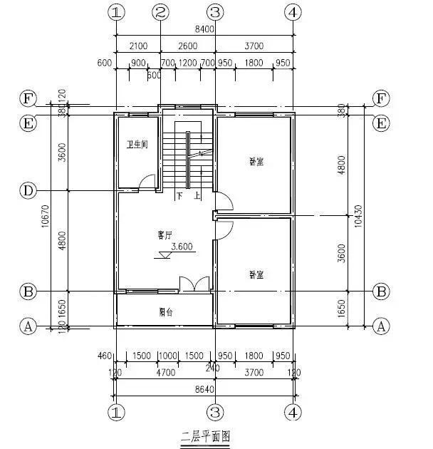 8x10米简约三层农村自建房别墅 参考造价19.84万元