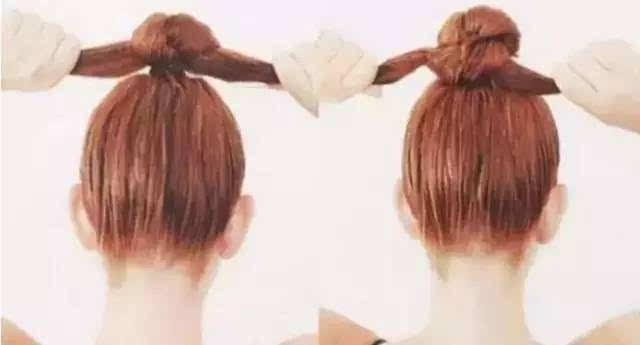 编发教程: 马尾蝴蝶结 第一款 美妆造型秀每天为大家分享新娘造型