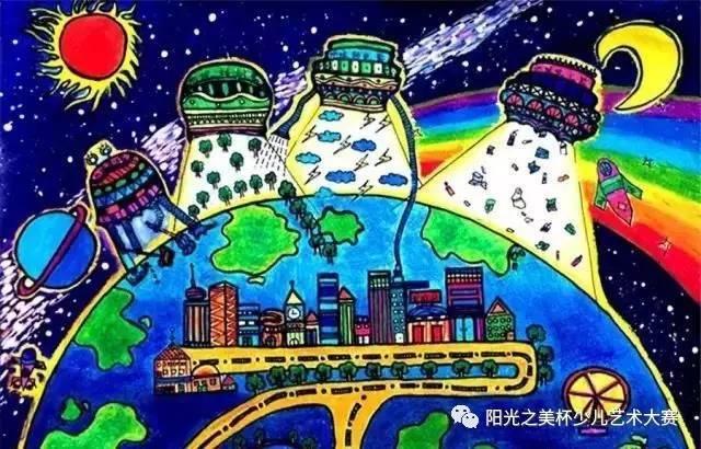 现在分享一组环保主题的儿童画,保护环境,孩子们用画来体现出来!图片