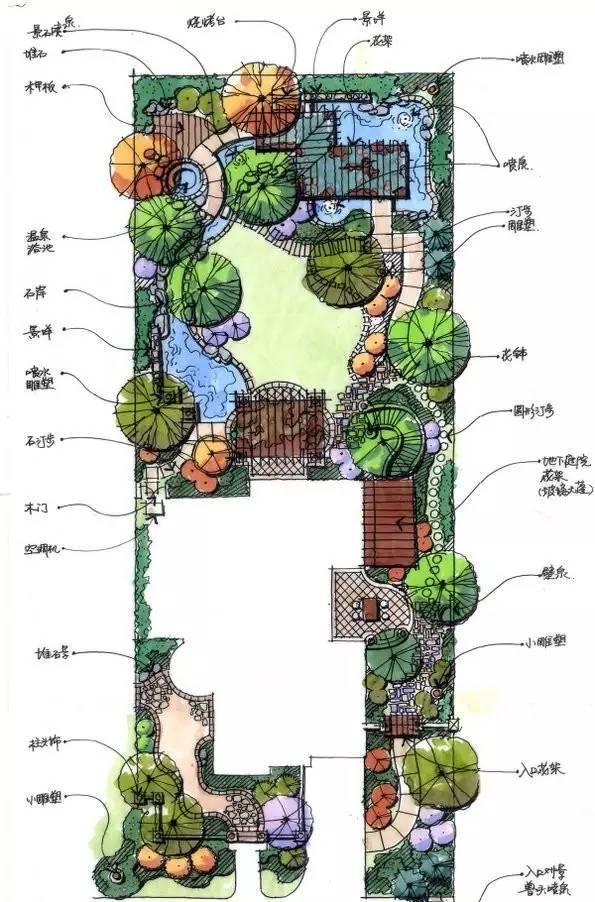 50张高清庭院设计平面图,收藏学习!
