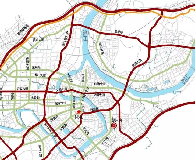 赣州市中心城区快速路网详细规划公布!涉及城区300万人,快来围观