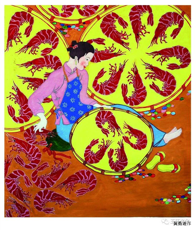 展览通知 | 渔海风情,文化走亲!玉环渔民画在温岭王伯敏艺术馆开展啦!图片