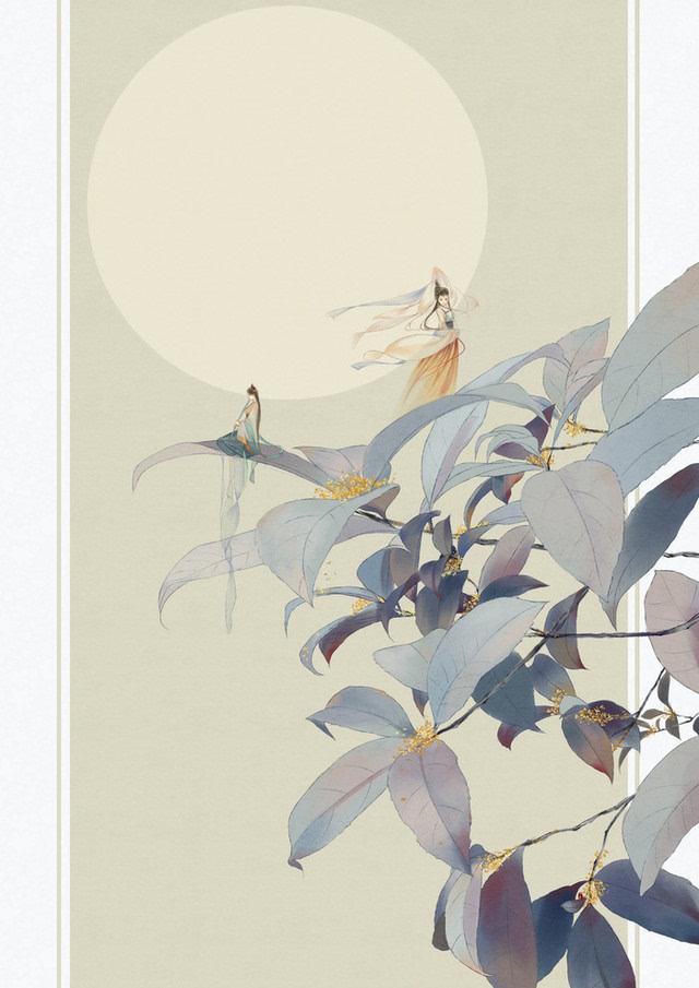 符殊的手绘插画:唯美的古风背景