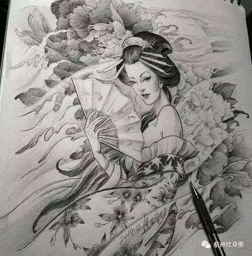 日本传统纹身:艺伎-文化频道-手机搜狐