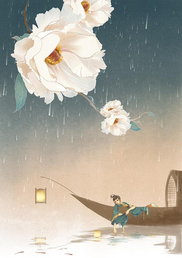 符殊的手绘插画:唯美的古风背景-动漫频道-手机搜狐