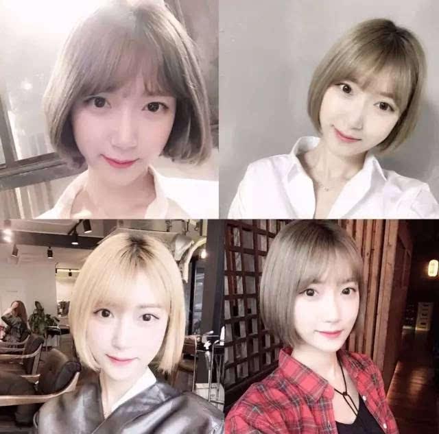 美妹色洞_狗啃式刘海依旧会流行下去,焦糖色超短内扣,学生妹人手必备发型.