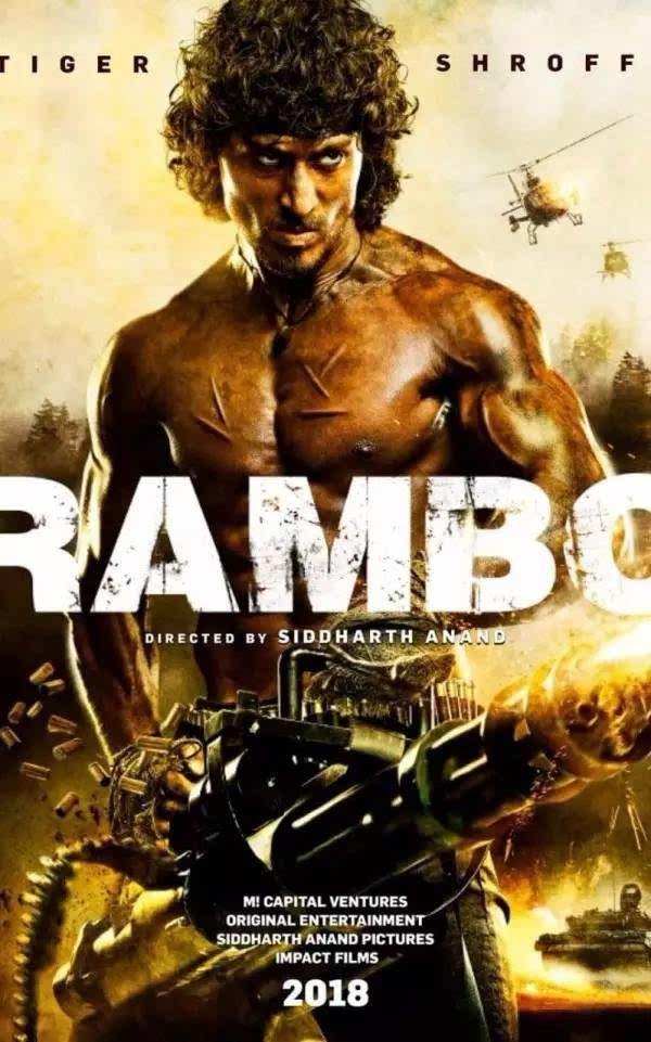 印度人要翻拍《兰博》了,海报是这样