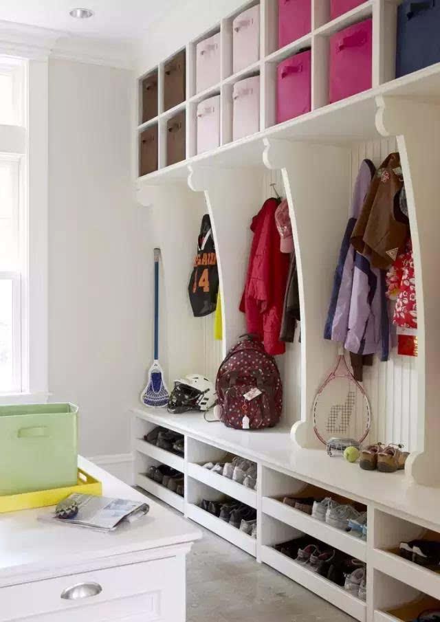 开放式鞋柜设计,真正拯救进门一地鞋的烦恼!